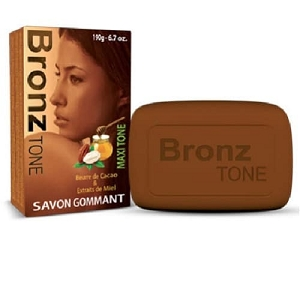 Bronz Tone Exfoliating Soap With Cocoa butter & Honey 6.7 OZ / 190g