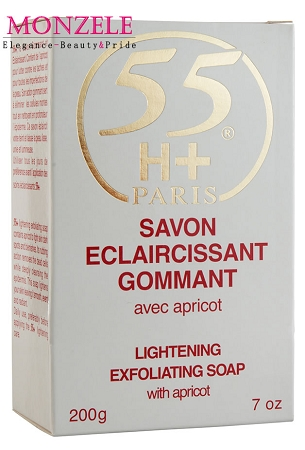 55H+ Paris Lightening Exfoliating Body Soap with Apricot (200 g/7 oz)
