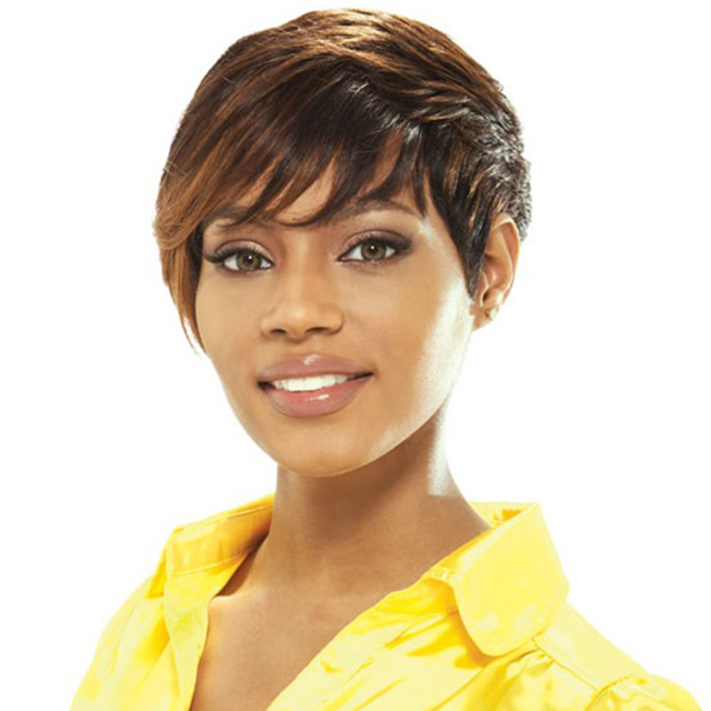 Black Wig Machine Made wig best seller in us Straight Synthetic Hair wigs for black woman