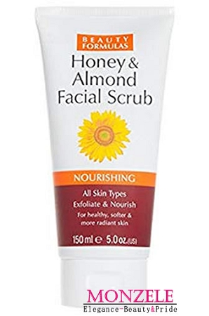 Beauty Formulas Honey & Almond Facial Scrub (150 ml/5.1 fl.oz)