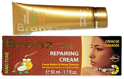 Bronze Tone Cream Tube With Cocoa Butter & Honey 50g