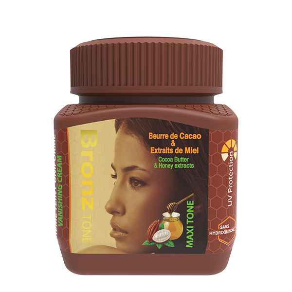 Bronze Tone Maxi Tone Jar cream with Cocoa Butter & Honey 8.1 oz / 240 ml