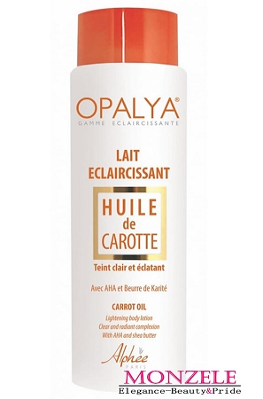 Opalya Lightening Body Lotion with Carrot Oil (500 ml/16.9 fl.oz)