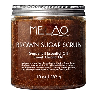 Melao Pure Natural Skin Care  Brown Sugar Body Scrub 10 Oz/283g